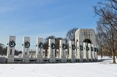 Washington DC - World War II Memorial in Winter