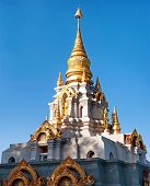 Phra Boromathat Chedi buddhist pagoda in Santikhiri village of Doi Mae Salong in Chiang Rai province of northern Thailand