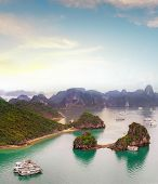 Amazing travel destination in Asia - Halong Bay exotic sea and islands in northern Vietnam