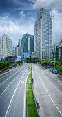 Bangkok City Day Time With Main Traffic High Way