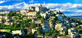 panorama of medieval Gordes, Provence. France