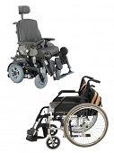 wheelchair under the white background