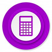 calculator icon, violet button