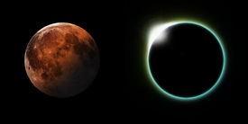 pic of occult  - A total solar and Lunar eclipse side by side - JPG