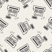 pic of cash register  - Cash Register Doodle Drawing - JPG