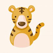 foto of cute tiger  - Chinese Zodiac Tiger Theme Elements - JPG