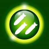 picture of nuke  - Air bomb vector icon - JPG