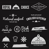 Set of logo, badge, emblem and logotype elements for restaurant, cafe and bar poster
