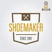 foto of shoe  - Vintage logo or logotype elements for shoemaker - JPG