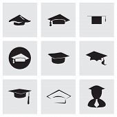 stock photo of cognitive  - Vector academic icon set on grey background - JPG