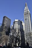 foto of empire state building  - Madison square park located on the 5th avenue has impressive views of the Empire State Building and the Flatiron Building - JPG