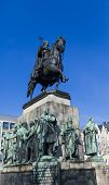 image of koln  - Friedrich Wilhelm III King of Prussia monument in Cologne, Germany ** Note: Soft Focus at 100%, best at smaller sizes - JPG