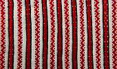 stock photo of stitches  - embroidered cross stitch pattern ukrainian ethnic ornament - JPG