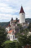 stock photo of bohemia  - Medieval Krivolat Castle in Central Bohemia Czech Republic - JPG