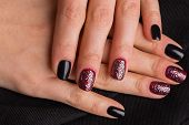 pic of nail paint  - Beautiful manicure nails - JPG