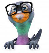 stock photo of pigeon  - Fun pigeon - JPG