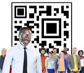 pic of qr-code  - QR Code Marketing Identity Concept - JPG