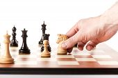 stock photo of chess piece  - Playing chess  - JPG