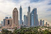 image of dubai  - Dubai Marina Skyscrapers - JPG