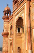 stock photo of mughal  - Closeup of facade of Safdarjung Tomb New Delhi India - JPG