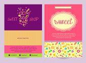 Постер, плакат: Flyer sweets Background ad logo