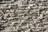 stock photo of wall-stone  - Stone walls - JPG