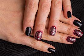 image of nail paint  - Beautiful manicure nails - JPG