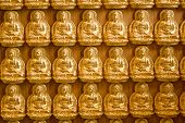 Wall of the gold Buddha tablet