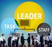 stock photo of tasks  - Leader Leadership Manager Task Staff Concept - JPG