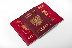 picture of passport cover  - Russian passport documents - JPG