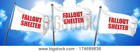 fallout shelter 3D rendering triple