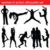high quality dancing women silhouette