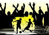 los fanáticos y fútbol