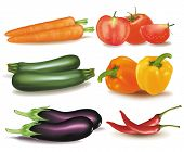 picture of food groups  - The big colorful group of vegetables - JPG