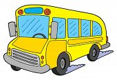 Yellow school bus - vector illustration.