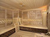 interior of a sauna