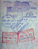 Us Passport With African Passport Stamps Botswana Namibia