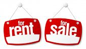 Property Sale and Rent Signs
