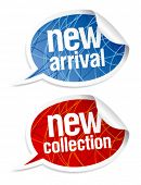 New collection stickers set in form of speech bubbles.