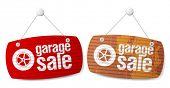 Garagem para venda sinais na forma de rolo shutters.