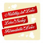 Romantic Love ribbons set.