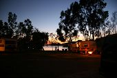 Camping RV Motorhome Sunset