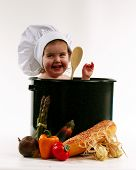 Постер, плакат: Ребенок в приготовлении горшок