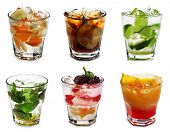 Cocktail Collection Isolated on White Background