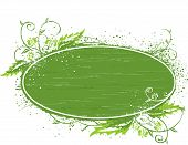 Green Banner Template Illustration