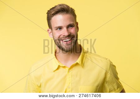 Dentistry Concept Man Handsome Bearded