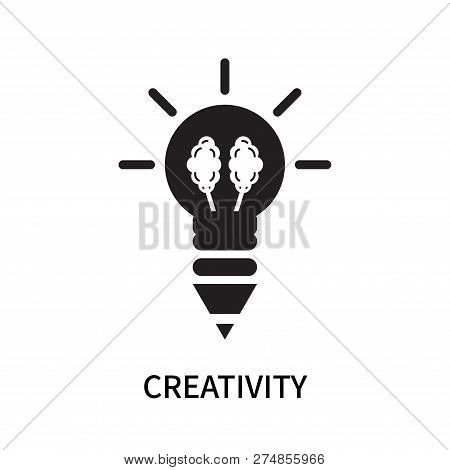 poster of Creativity Icon Isolated On White Background. Creativity Icon Simple Sign. Creativity Icon Trendy An