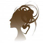 Funky hair salon design.