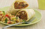 Chicken And Black Bean Burrito Wrap