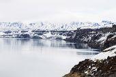 Oskjuvatn Lake At Askja, Iceland. Central Highlands Of Iceland Landmark. Volcanic View poster
